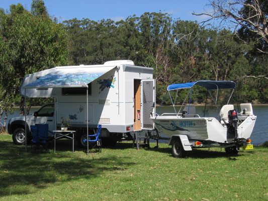 Ozcape Campers Slide-On Optima with boat