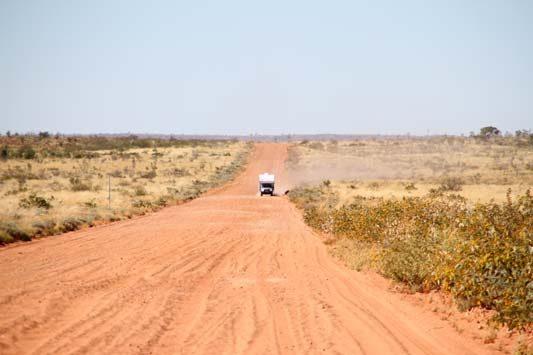 Ozcape Campers Slide-On on desert trip