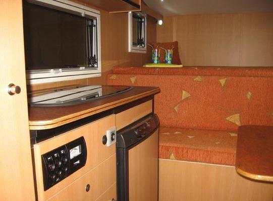 Ozcape Slide-On Prima25 kitchen area with control panel