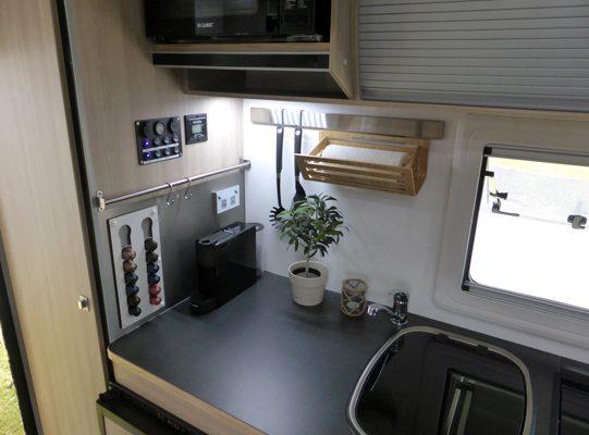 Ozcape Campers Slide-On Optima kitchen details