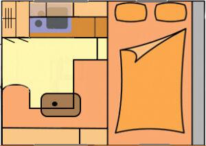Floorplan Shorta 4-berth